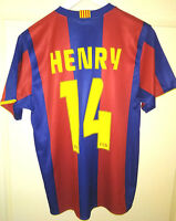 HOME SHIRT ROGER'S FC BARCELONA 2006-07 - HENRY #14 (S) Jersey Maillot - Suivi