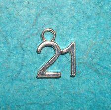 Pendant #21 Charm 21st Birthday Charm Legal Age Charm Finally 21 Charm