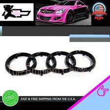 AUDI glossy black Front Grille Rings Emblem A1 A3 A4 S4 a5 s5 a6 a8 bta5728403 x