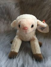 Retired Original TY Beanie Babies Ewey Lamb Sheep Mint w/Tag Errors