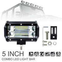 2 pièces 72 W LED travail barre lumineuse 12 V 24 V 5 pouces Super lumineux 24