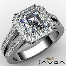 Shining Asscher Diamond Ideal Engagement Ring GIA G VS2 Clarity Platinum 1.88 ct