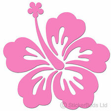 36 PINK HIBISCUS FLOWERS STICKERS DECALS for Car | Wall | Home