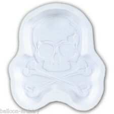 6 Gothic Halloween Horror White Poison Skull Mini Party Plastic Snack Trays