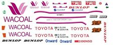 #38 Wacoal TOYOTA 84C & 85c 1985 1/32nd Scale Slot Car WATERSLIDE DECALS