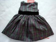 Gymboree Holiday Classics Silk Plaid Dress 6-9-12 NWT