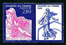 STAMP / TIMBRE FRANCE NEUF N° 2991a ** AVEC VIGNETTE JOURNEE DU TIMBRE SEMEUSE