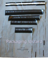 Mailing / Postal Bags ~ Biodegradable ~ Grey ~ Mixed Sizes x 100 ~ Self Seal