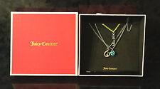 JUICY COUTURE NECKLACE Women's Jewelry Studded Rhinestone Horseshoe Teeny Wish