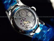 New Glycine 46mm Incursore Swiss Made Mechanical Silver Dial SS Bracelet Watch