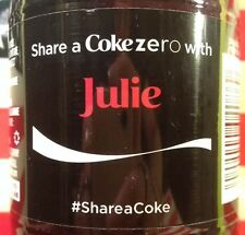 Share A Coke Zero With Julie Limited Edition Coca Cola Bottle 2014 USA