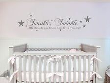 TWINKLE TWINKLE LITTLE STAR WALL QUOTE CHILDREN ROOM DECAL ART STICKER VINYL KID