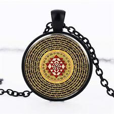 Wholesale Cabochon Glass Black  Chain Pendant Necklace ,Sri Lanka /139