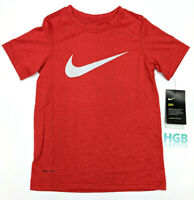 Dri-Fit BREATHE Swoosh Training Shirt 834554-702 Volt $30 Boy/'s NIKE