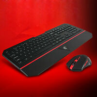 Wireless Gaming Keyboard and Mouse Set 2.4GHz USB for Xbox One PC PS4 Laptop PS3