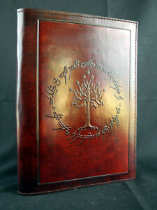 Handmade Refillable A5 Leather Journal: LORD of the RINGS - Tree of Gondor