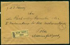 "1916, Hungary Naval cover, registered, ship ""SCWARZENBERG' purple straight line"