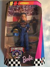 1998 50th Anniversary Nascar Barbie Doll Collector Edition #20442 Nrfb
