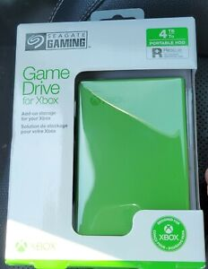 NEW Sealed 4TB Seagate Portable External Game Hard Drive for Xbox One Green HDD