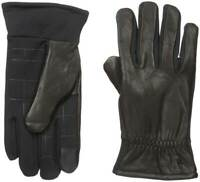 Dockers Men Genuine Leather Gloves Stretch Back Heritage Fit Black M