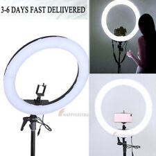 """19"""" Smd Led Ring Light Dimmable 5500K Continuous Lighting Photo Video Kit"""
