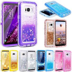 For Samsung Galaxy S8/S8 Plus Glitter Liquid Defender Case (Clip Fits Otterbox)