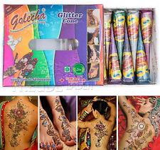 12x Golecha paillettes cône - 6 couleurs - Multicolore á 25g pour MEHENDI - 300g