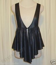 BEAUTIFUL SASS&BIDE CHARCOAL BLACK RELAXED FIT PLEATED VEST AUS 10/12