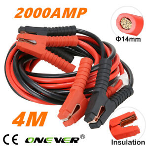 2000AMP 4M Heavy Duty Jump Leads Battery Start Booster Cables Car Van Truck