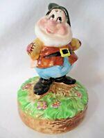 Happy the Dwarf Vintage Schmid Porcelain Music Whistle While You Work Japan EUC
