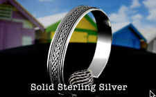 1SB-863 Genuine Solid 925 Sterling Silver Wristband Cuff Bangle Men Bracelet.