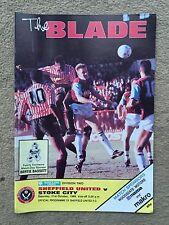 Sheffield United v Stoke City - Barclays League Division 2 1989/90