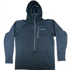 Patagonia Men's Black Zip Thumbhole Polartec Pockets Activewear Hoodie Size XL