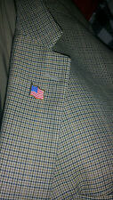 TWO USA U.S.A. U.S. US American Flag Pin MAGNETIC Backing Patriotic, Lapel Pins