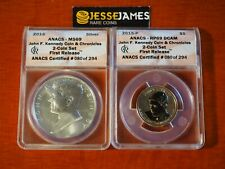 2015 P REVERSE PROOF JOHN KENNEDY DOLLAR ANACS PF69 MS69 FR COIN CHRONICLES SET