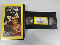 BALI OBRA MAESTRA DE LOS DIOSES - VHS TAPE CINTA NATIONAL GEOGRAPHIC VIDEO