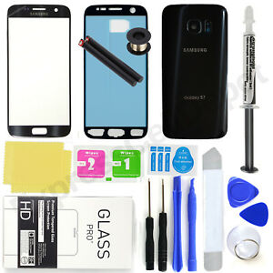 For Samsung Galaxy S7 G930-OEM Black-Front Screen Glass Back Replacement Pro Kit