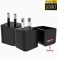 1080P USB Mini SPY Hidden Wall Charger Camera Power Adapter Plug Cam DC 5V 1A