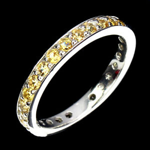 Sapphire Round Diamond Cut 14K White Gold Plate 925 Sterling Silver Ring Size 7