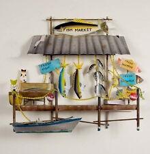 Coastal Art Designs Hand Crafted Metal Fish Market Nautical Wall Sculpture