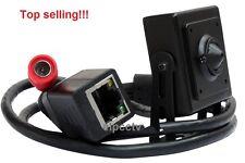 CCTV Audio Mic Microphone 720P Spy Hidden Covert Pinhole IP Camera 3.7mm Lens