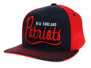 Outerstuff New England Patriots NFL Youth Flat Brim Legacy Loose Script Hat