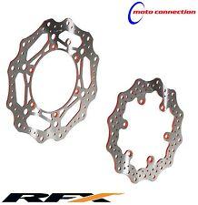 RFX WAVEY ORANGE BRAKE DISCS FRONT & REAR FOR KTM SX 125 150 250 SXF 250 350 450