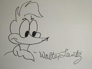 WOODY WOODPECKER ORIGINAL DRAWING SIGNED BY WALTER LANTZ