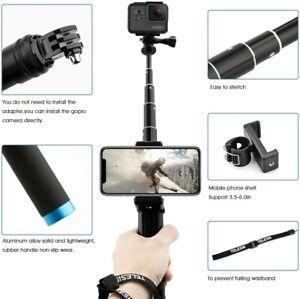 Asta Telescopica/Tripod Action Cam + Caricabatterie + 3 Batterie per GoPro Hero9
