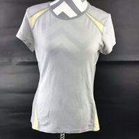 Smartwool Womens Small Gray Yellow Short Sleeve Merino Wool Top
