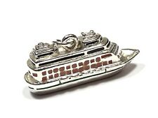 Vintage Ladies Sterling Silver Cruise Ship Charm