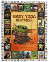 Baby Yoda Blanket, Star Wars Blanket - Quilt, Fleece Blanket