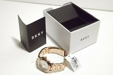 DKNY NY2210 TOMPKINS GOLD ROSE WOMEN'S WATCH STAINLESS STEEL BRACELET