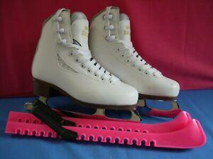 GRAF BOLERO Ladies Ice Figure Skates Size EU 35 UK 2.5  Leather Uppers & Guards